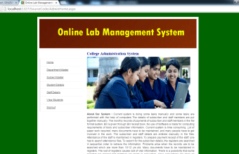 Web Based Lab Management System