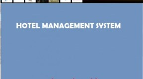 Hotel Management Software Project