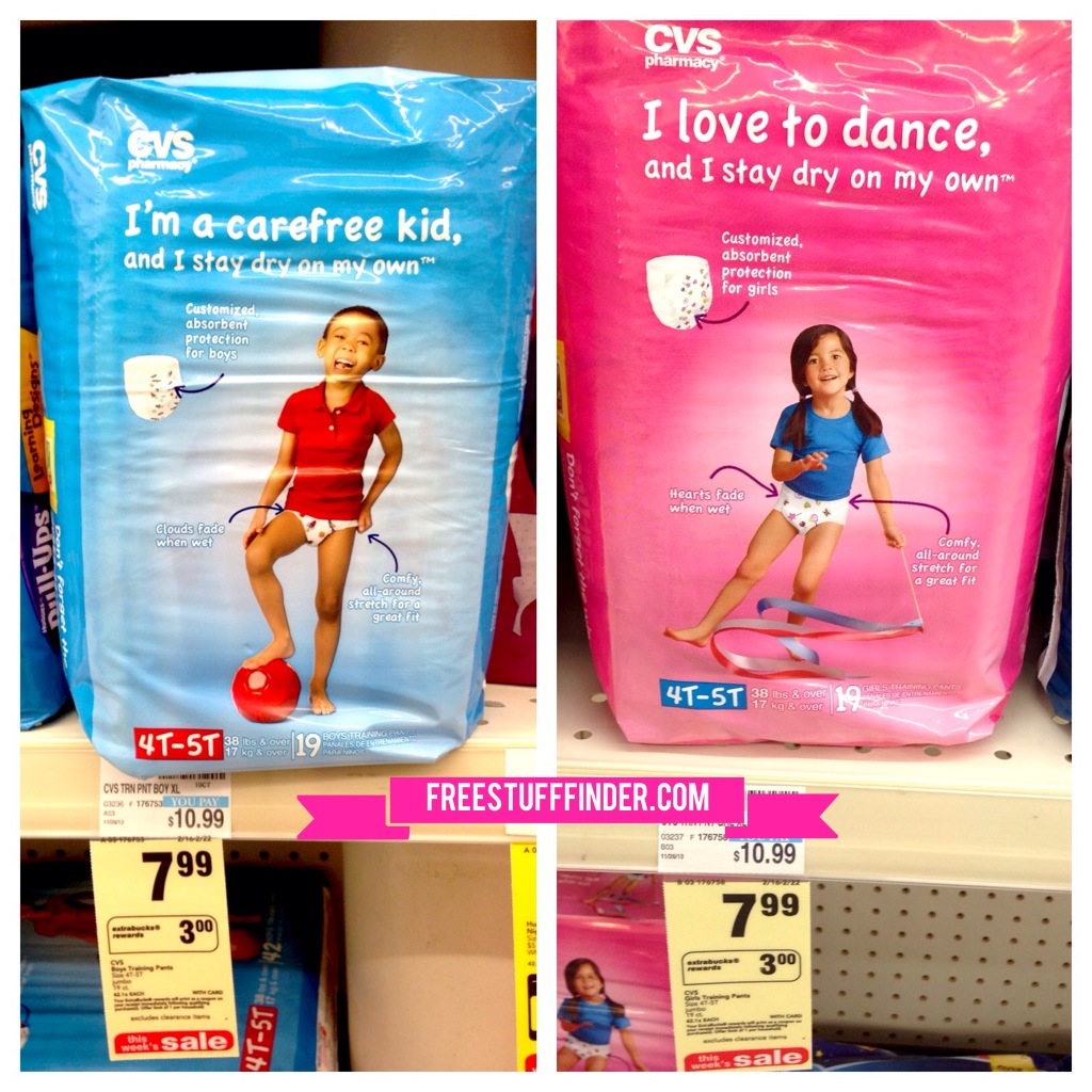 Deal 5 CVS Training Pants or Diapers