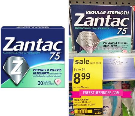 Free Zantac 75 at Walgreens