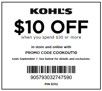 *HOT* $10 Off $30 Purchase Kohl's Coupon (Last Day!)