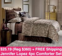 *HOT* $25.19 (Reg $360) Jennifer Lopez Comforter Set ...