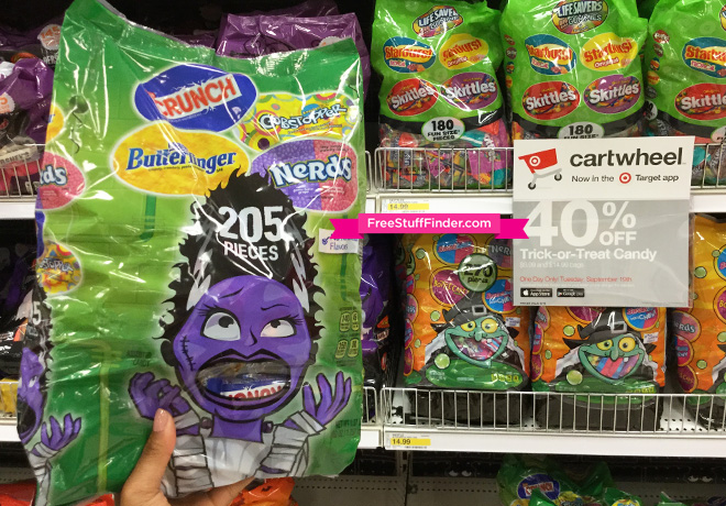 5 out of 5 stars with 5 ratings. Hot 40 Off Halloween Candy At Target Today Only Free Stuff Finder