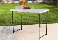 $26.90 (Reg $47) Lifetime 4-Foot Adjustable Folding Table ...