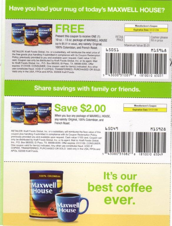 picture relating to Maxwell House Coffee Coupons Printable referred to as Absolutely free maxwell residence espresso -coupon