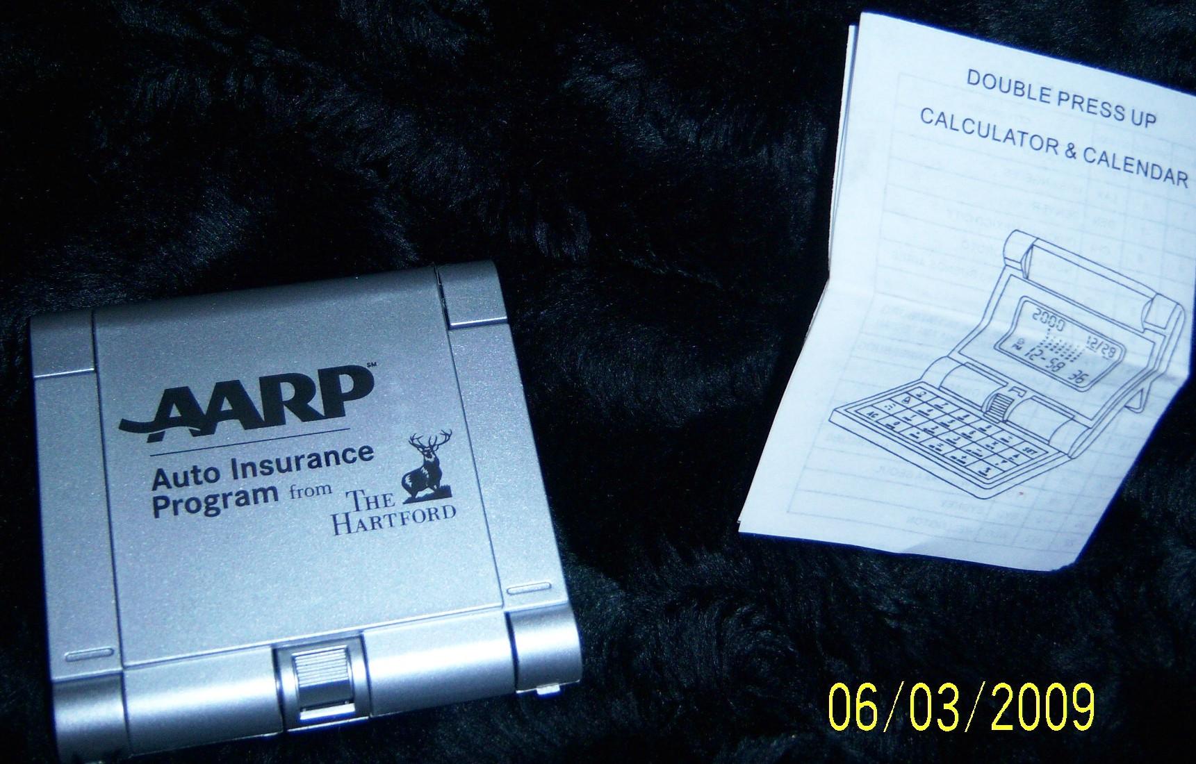 AARP digital calculator, calendar, and clock Unit