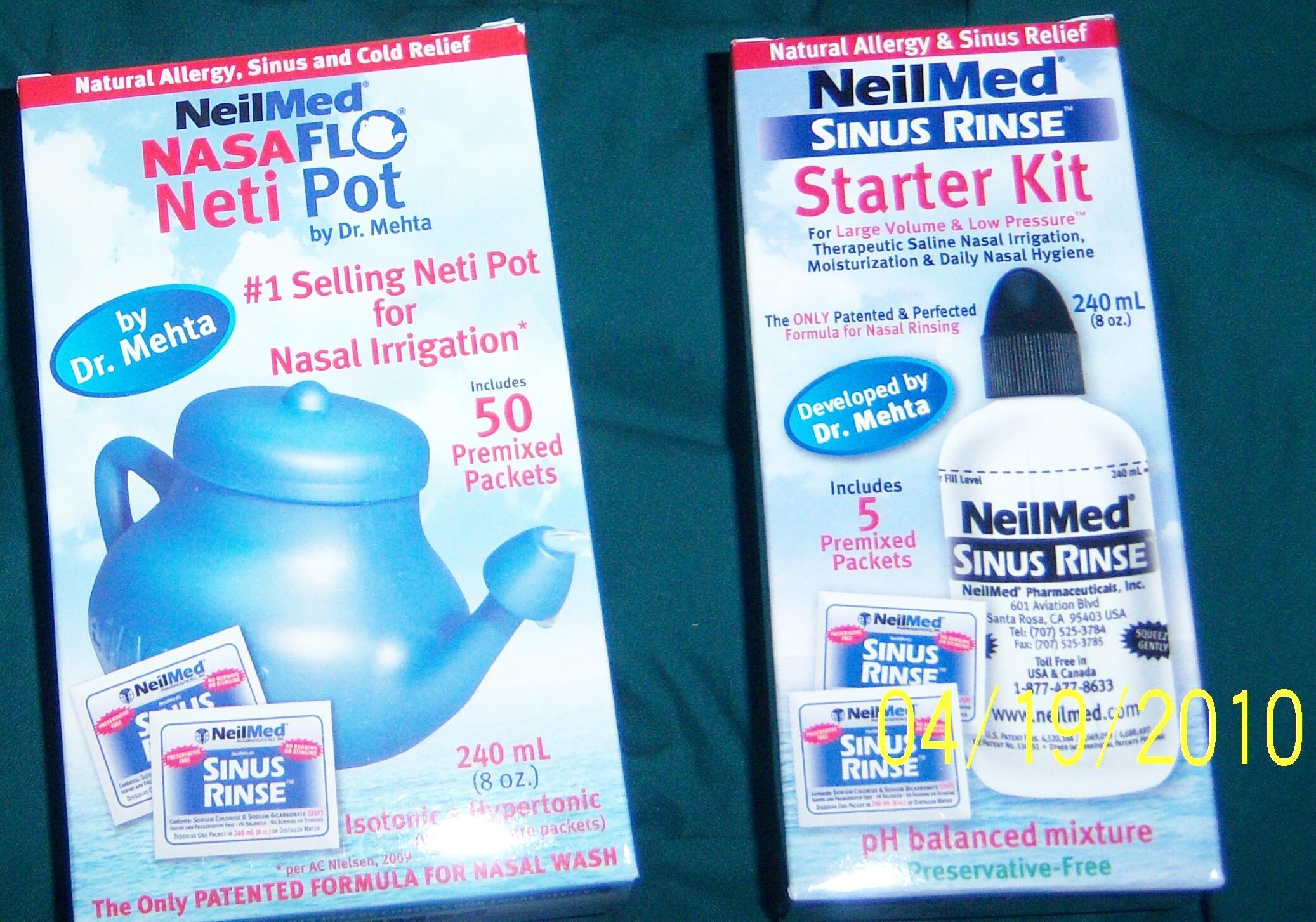 neilmed nasaflo neti pot and sinus rinse kit