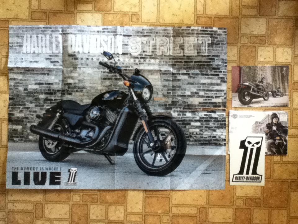 Harley davidson sticker black out custom bike poster for Harley davidson motor co