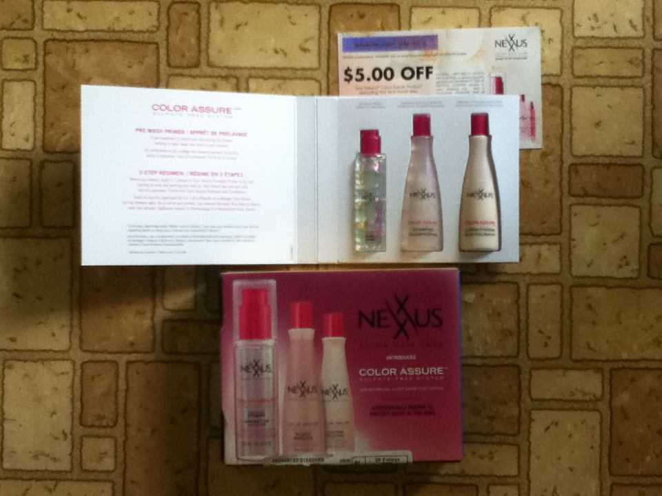 Free samples of Nexxus Salon Hair Care Color Assure – primer