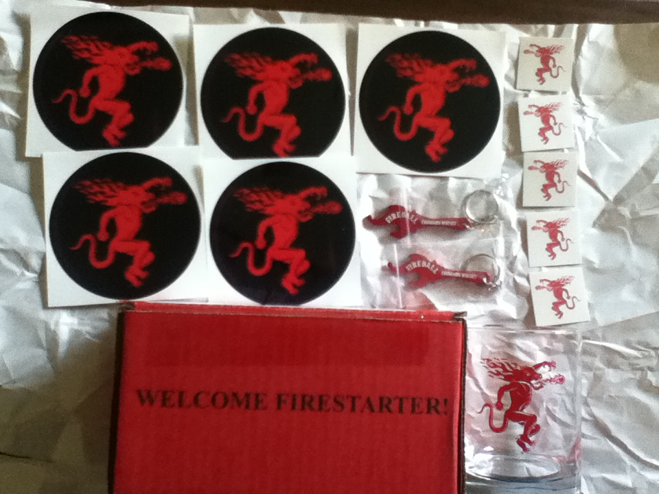Free Swag From Fireball Whisky Free Glass Keychain
