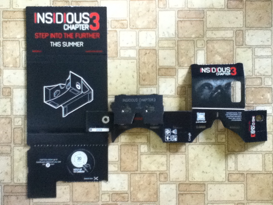 winner in the amc theatre u2019s insidious  u2013 chapter 3 giveaway  u2013 won a google cardboard unit