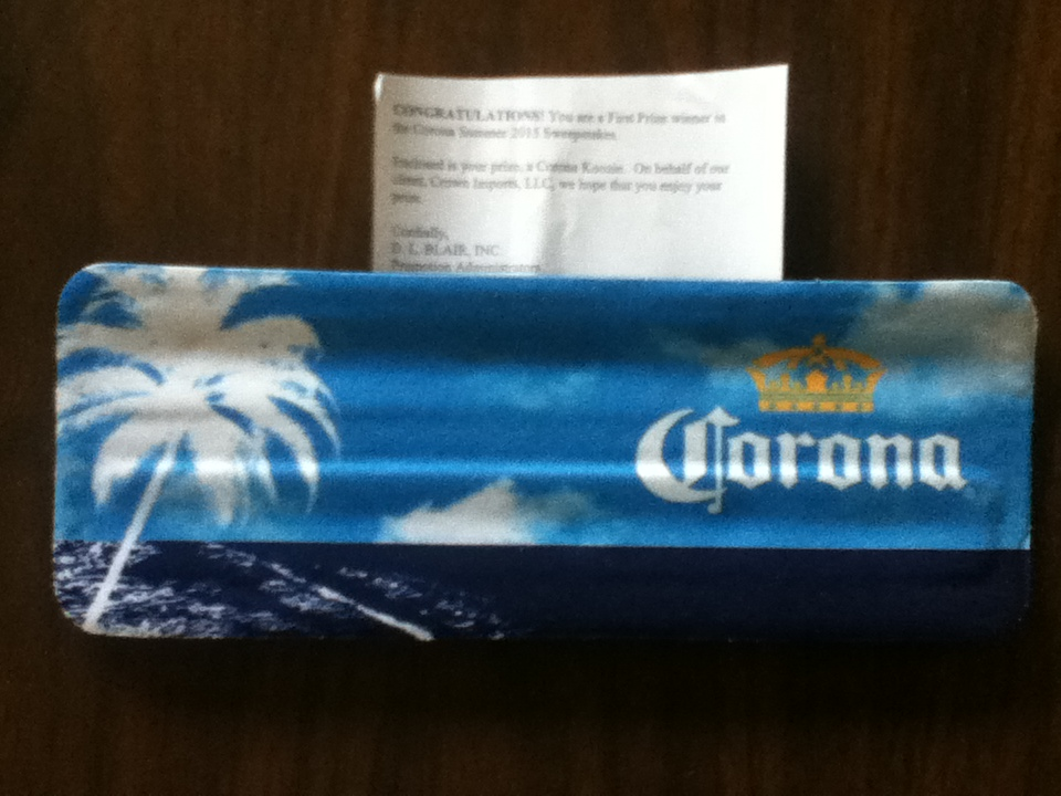 1st Place Winner In The Corona Summer 2015 Sweepstakes
