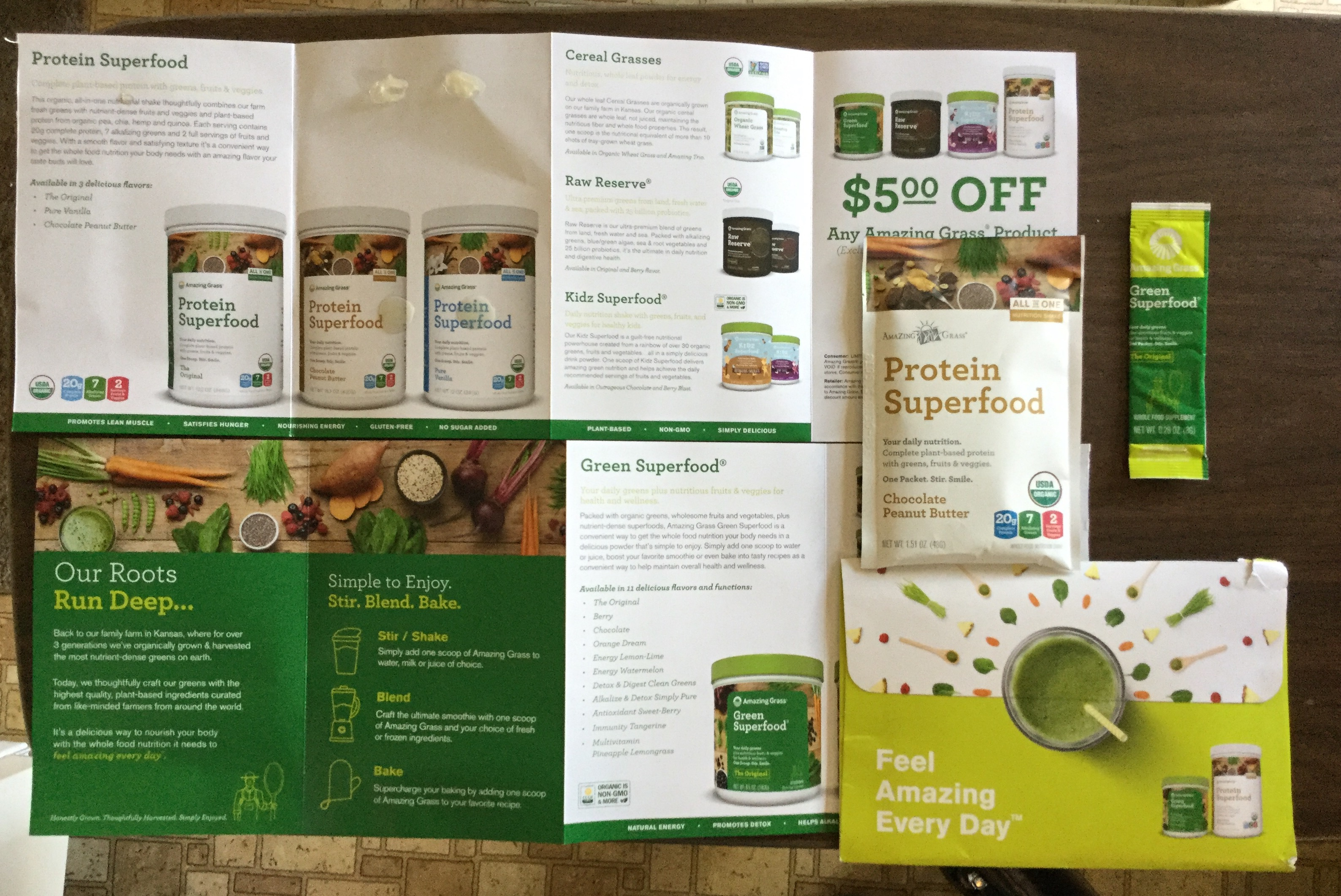Free Amazing Grass Protein Superfood And Green Superfood