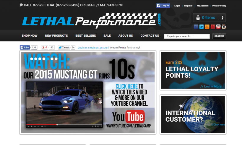 Lethal-Performance-Magento-Website
