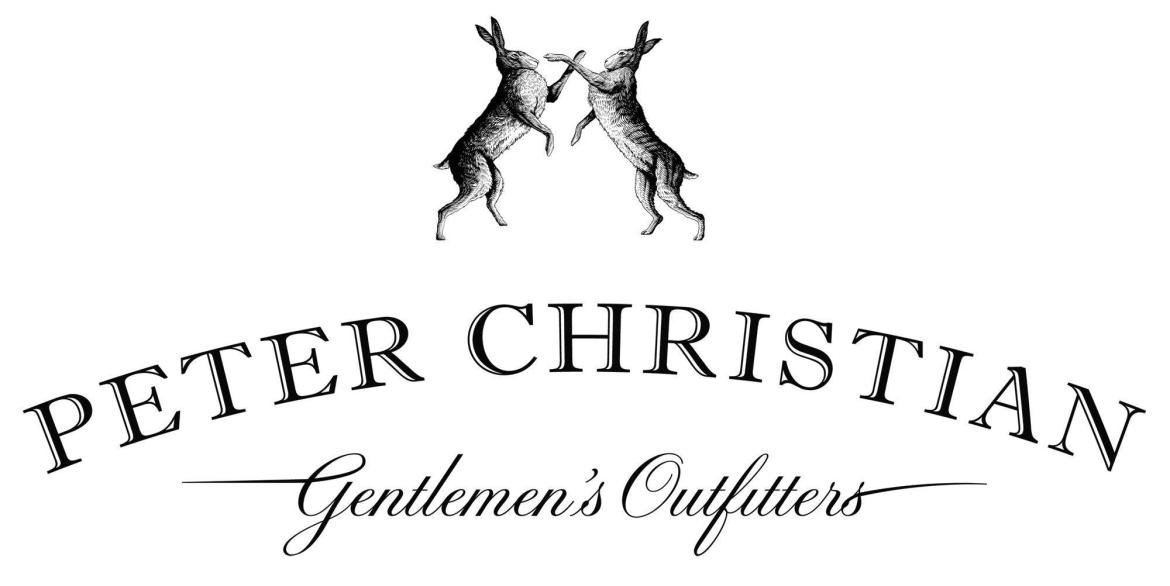 Peter Christian Gentlemen's Outfitters Logo with Rabbits