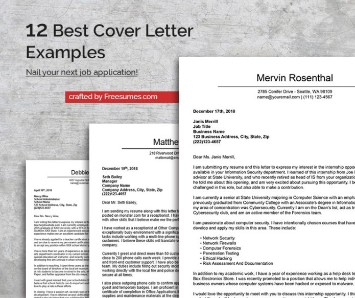 The 12 Best Cover Letter Examples To Nail Your Next Job Application Freesumes