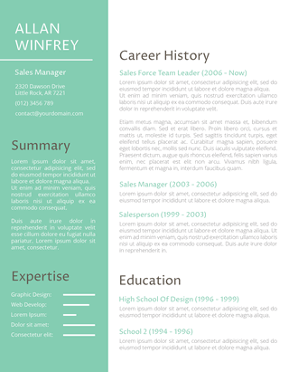 Our sales resume samples are a great reference to help you craft a document. Resume Templates For 2021 Free Download Freesumes