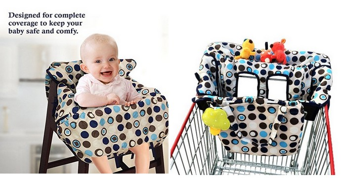 high chair amazon pool chairs lounge crocnfrog 2 in 1 shopping cart cover for deals baby