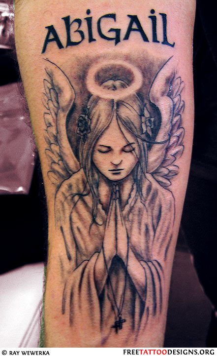 angel tattoos wings guardian