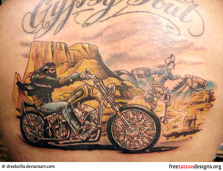 Biker Tattoo Designs For Men