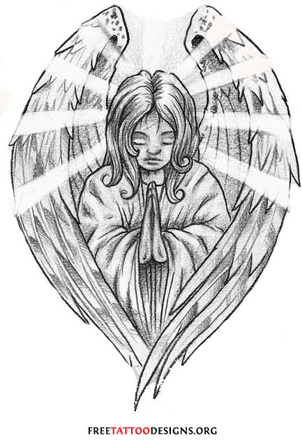 Baby Angel Praying Tattoo