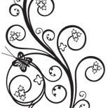 Feminine Swirl Tattoo Designs