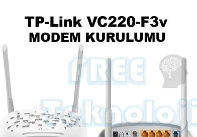 TP-Link VC220-F3v MODEM KURULUMU