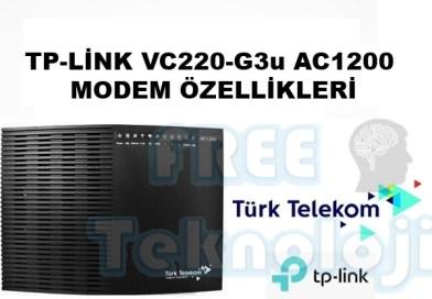Tp-link vc220-G3u AC1200 Modem Özellikleri