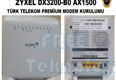 ZYXEL DX3200-B0 AX1500 MODEM AYARLARI