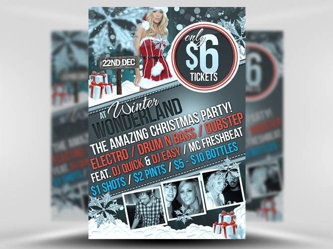 Christmas Party Invitation Flyer Template – Free Template Downloads