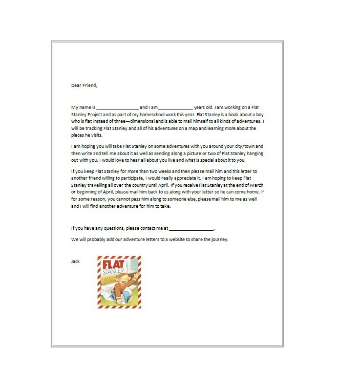 Flat Stanley Template 20 Free Flat Stanley Templates Colouring