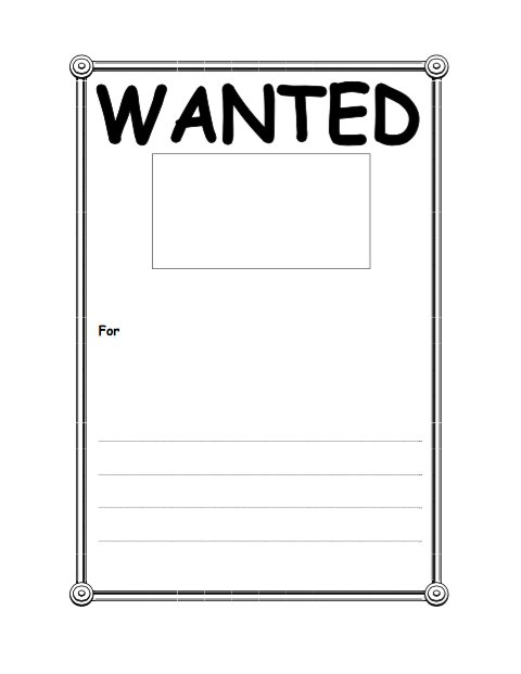 18 Free Wanted Poster Templates (FBI and Old West, Free