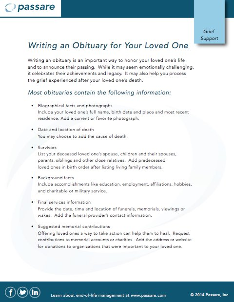 25 Free Obituary Templates And Samples Free Template