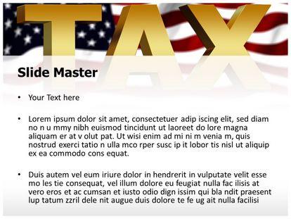 Free USA Tax PowerPoint Template   freetemplatestheme.com