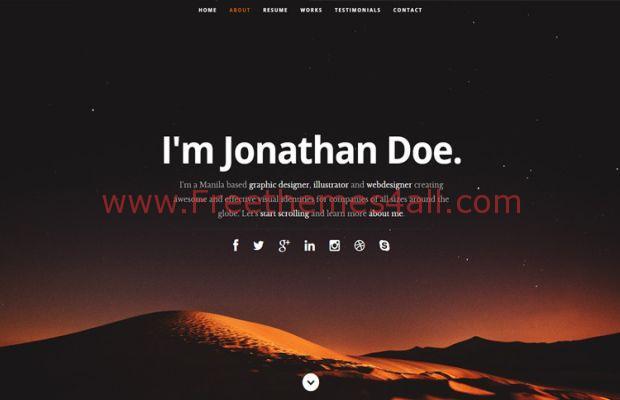 Responsive HTML Free Resume Template