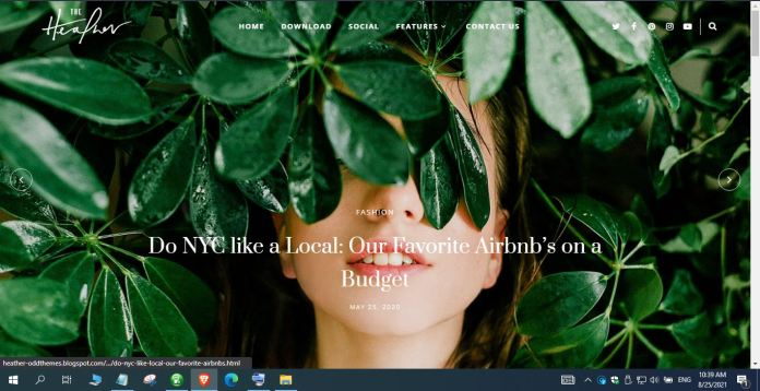 Main Features of Heather Blogger Template