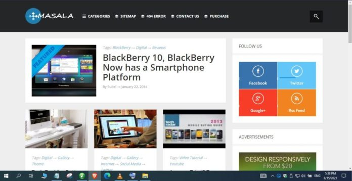 Masala-Responsive-Blogger-Template-Nulled-Download