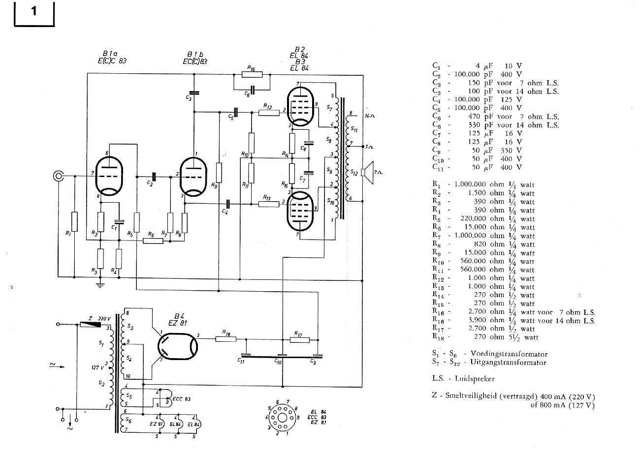 Philips HF309 Mono End Amplifier