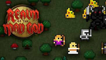 Realm of the Mad God - Um jogo 2D de tiro rápido e grátis para jogar MMO com um estilo retrô de 8 bits.