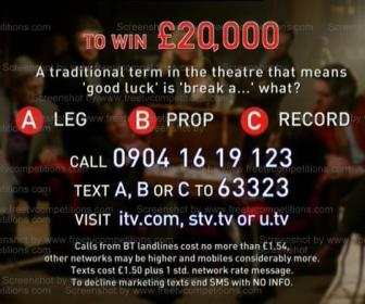 free entry to win £20000 cash with ITV Secret Dealer TV show 2013