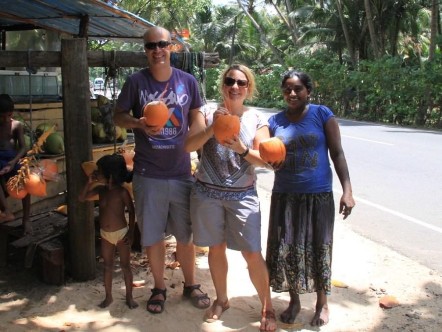 Our last king coconut before leaving Sri Lanka