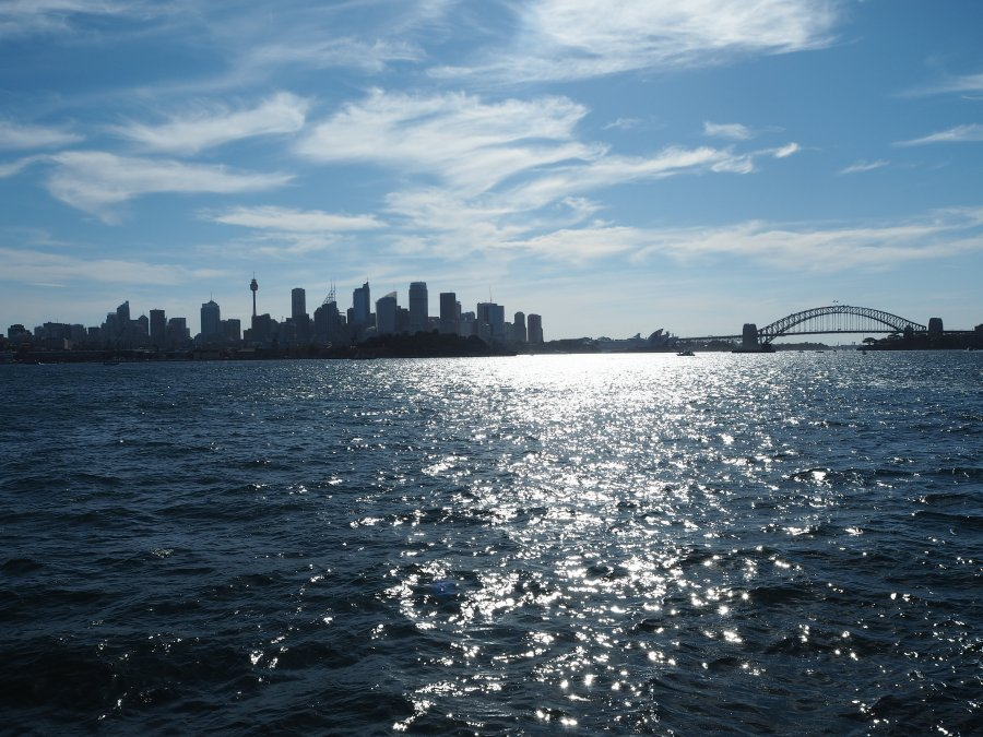 Catching the harbour ferry to Manly