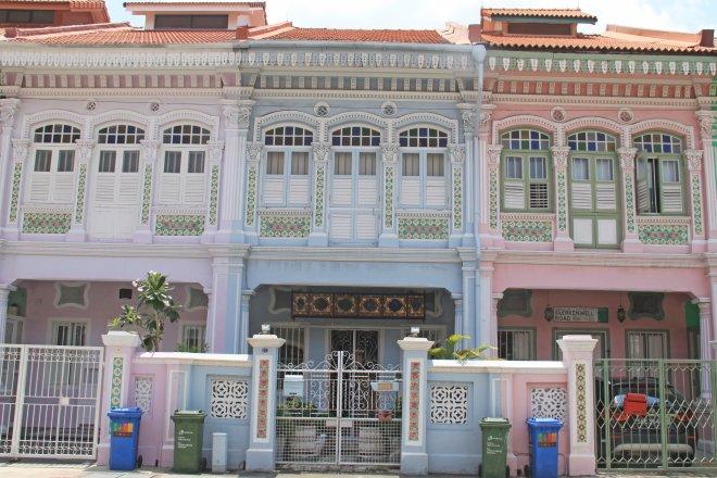 Well kept terrace houses in Joo Chiat/Katong