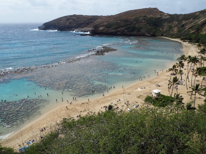 The beautiful view over Hanauma Bay.