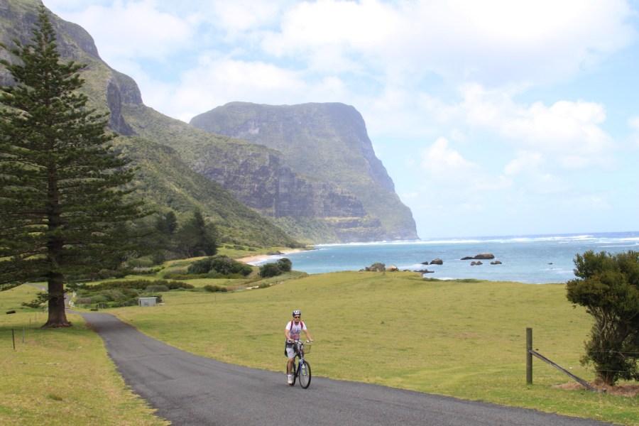 Enjoying the island by bike
