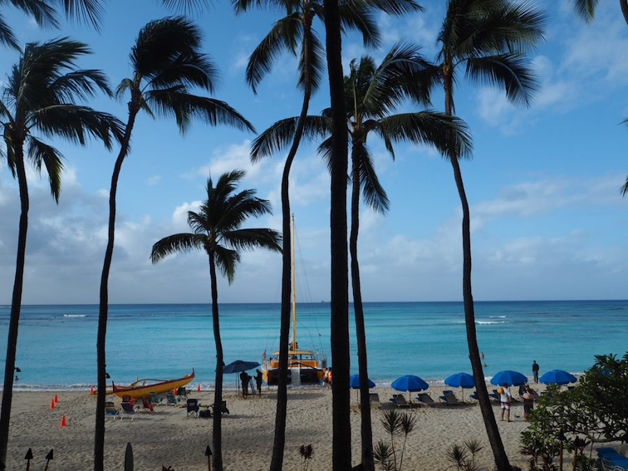 Breakfast view from the Hula Grill at Outrigger Waikiki Beach