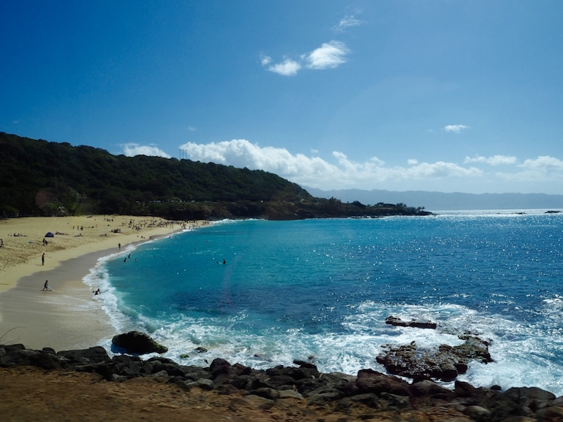 Northern beach of Oahu