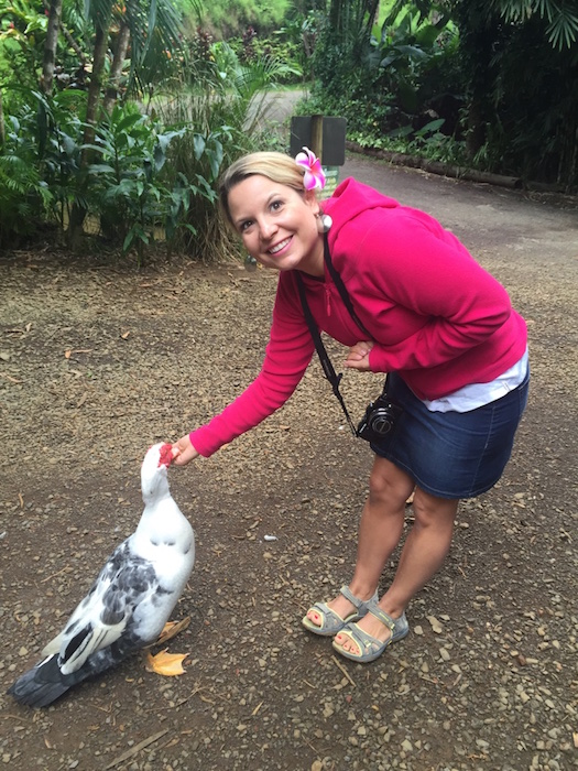 Duck feeding at the Garden of Eden