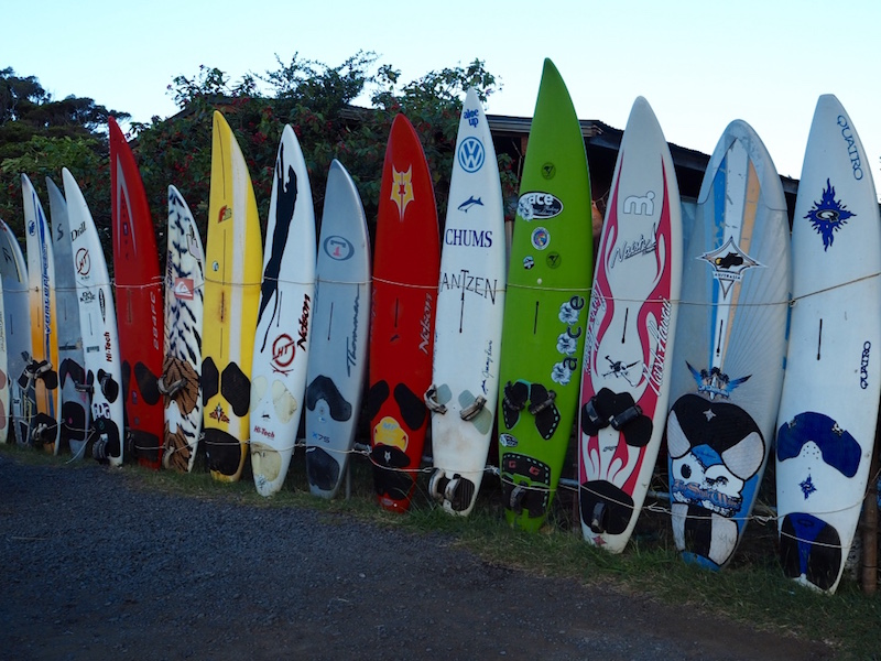 Board fence in Paia