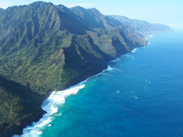 Flying over the Napali Coast